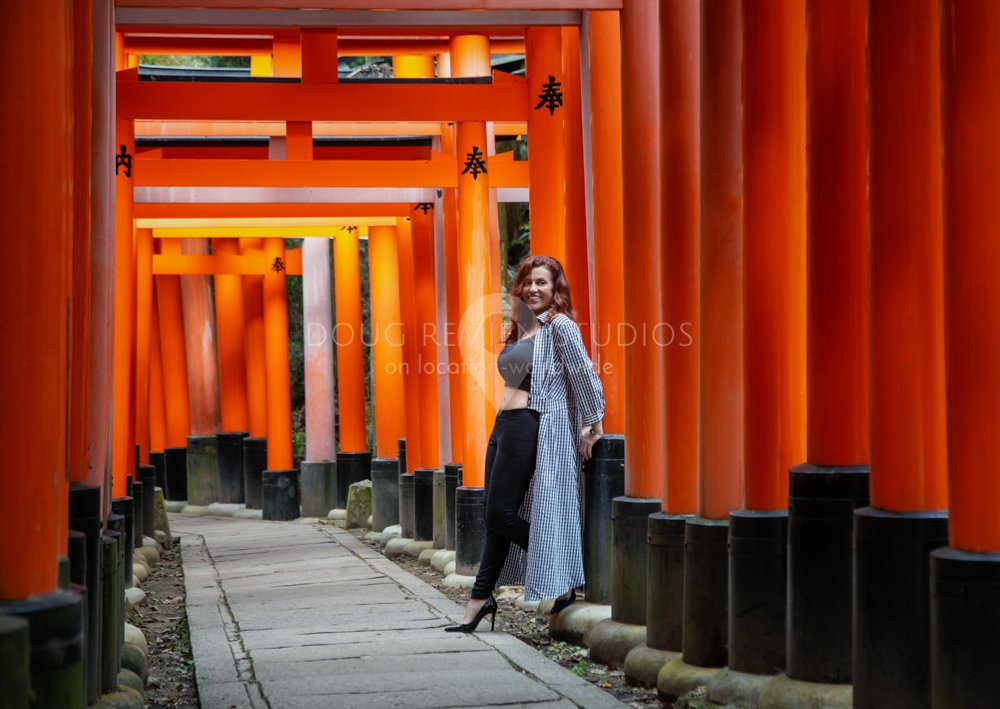 glamour model in Kyoto, Japan