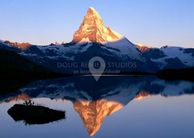 Matterhorn and Stellisee Lake, Switzerland