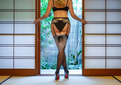 glamour lingerie model in Kyoto, Japan