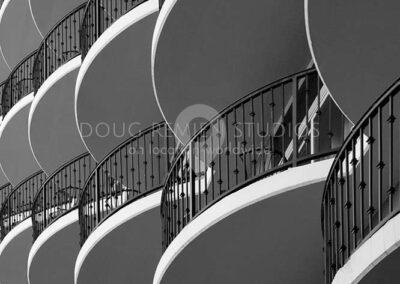 hotel balconies in Houston, Texas