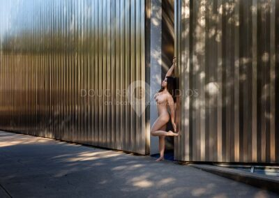 nude glamour model at Contemporary Arts Museum, Houston, Texas