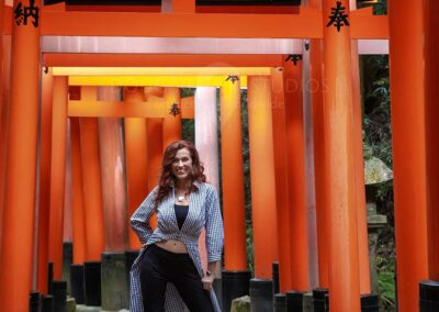 glamour fashion model in Kyoto, Japan