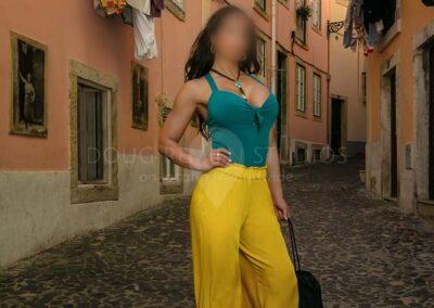 glamour fashion model in Lisbon, Portugal