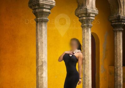 glamour fashion model in Sintra, Portugal